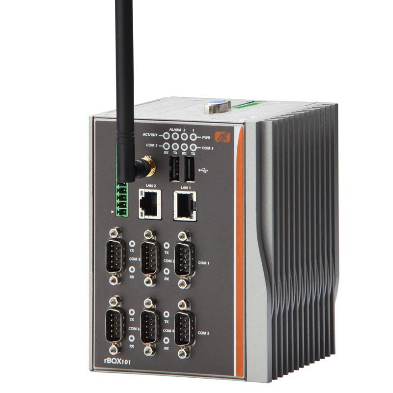 Máy tính công nghiệp không quạt Axiomtek rBOX201-6COM