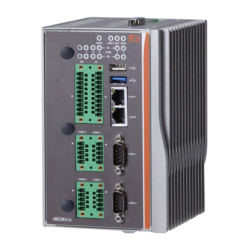 Máy tính công nghiệp không quạt Axiomtek rBOX510-6COM (ATEX/C1D2)
