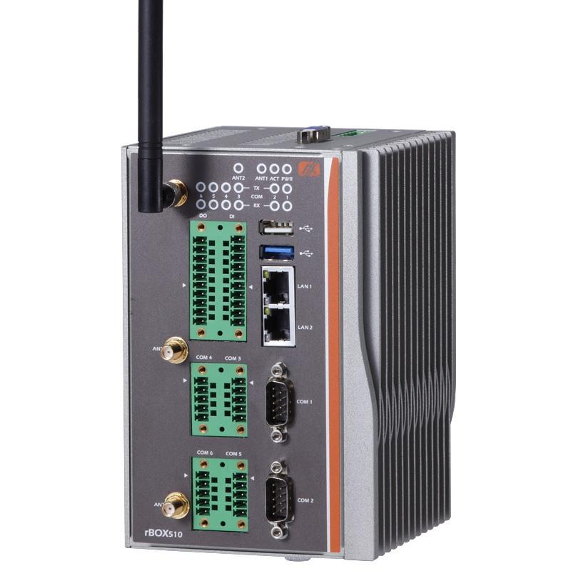 Máy tính công nghiệp không quạt Axiomtek rBOX510-6COM