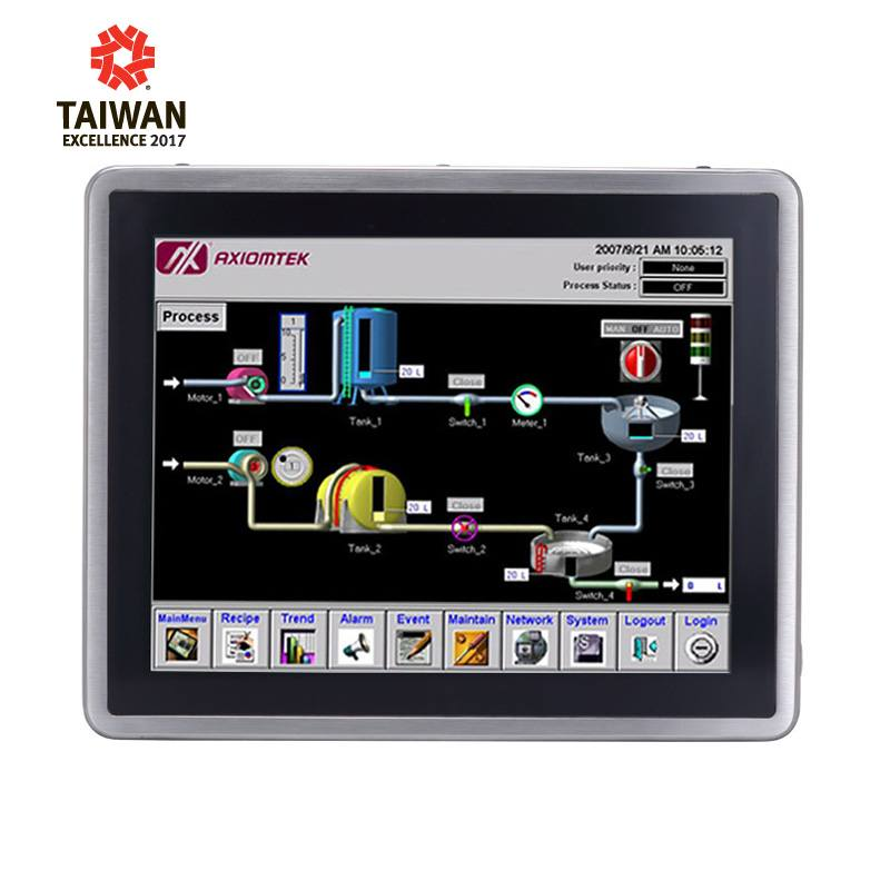 Máy tính công nghiệp màn hình cảm ứng 12.1 inch Axiomtek GOT812L(H)-880